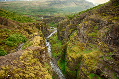 Glymur canyon Royalty Free Stock Images
