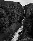 Glymur-Wasserfall Lizenzfreies Stockbild