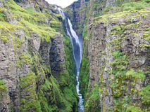 Glymur Waterfall in Iceland royalty free stock photo