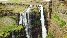 Glymur waterfall Iceland royalty free stock photography