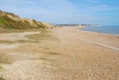 Glyne空白海滩,英国 免版税库存照片