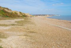 Glyne Gap plaża, Anglia Zdjęcia Royalty Free