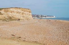 Glyne Gap setzen, Ost-Sussex auf den Strand Lizenzfreies Stockfoto