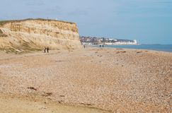 Glyne Gap strand, östliga Sussex royaltyfri foto
