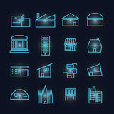 Glyph building Icon Set Royalty Free Stock Photo
