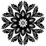 Glyph del flor Fotografía de archivo libre de regalías