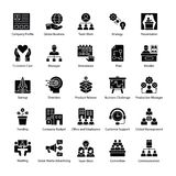Glyph Icons of Business Management royalty free illustration