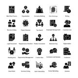 Business Management Glyph Icons Set. A glyph icons set of business management with all related icons. A wide range including financial aspects, market related Stock Photos