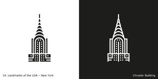 Chrysler Building icon Stock Image