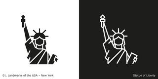 Statue of Liberty icon Royalty Free Stock Photos