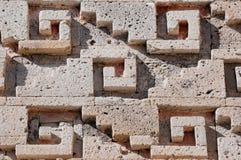 Glyph in Mitla, Oaxaca (Mexico) stock afbeeldingen