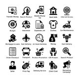 Glyph Shopping Icons Set. Here is a very useful collection of shopping icons that you are sure to find a great use for. Pack of shopping themed icons are for all Stock Photos