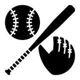 Glyph vector baseball equipment icon vector illustration