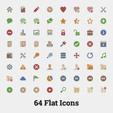 64 Glyph vector icons. 64 Glyph vector icons for web and mobile application. Social, documents, rating, media, persons and shopping icons Royalty Free Stock Image