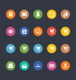 Glyphs Colored Vector Icons 2 Royalty Free Stock Photo