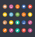 Glyphs Colored Vector Icons 1 Stock Photo