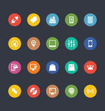 Glyphs Colored Vector Icons 4 Royalty Free Stock Photography
