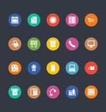 Glyphs Colored Vector Icons 3 Royalty Free Stock Photos