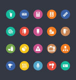 Glyphs Colored Vector Icons 6 Royalty Free Stock Images