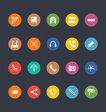 Glyphs Colored Vector Icons 14 Royalty Free Stock Photo