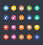 Glyphs Colored Vector Icons 15 Stock Photography