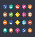 Glyphs Colored Vector Icons 17 Stock Images