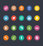 Glyphs Colored Vector Icons 19 Royalty Free Stock Images