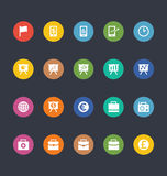 Glyphs Colored Vector Icons 18 Royalty Free Stock Image