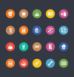 Glyphs Colored Vector Icons 20 Royalty Free Stock Photography