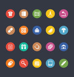 Glyphs Colored Vector Icons 24 Royalty Free Stock Photography
