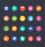 Glyphs Colored Vector Icons 23 vector illustration