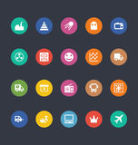 Glyphs Colored Vector Icons 30 Royalty Free Stock Photography
