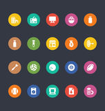Glyphs Colored Vector Icons 25 Royalty Free Stock Photo