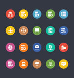 Glyphs Colored Vector Icons 28 Royalty Free Stock Image