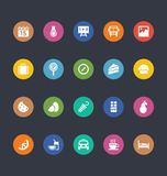 Glyphs Colored Vector Icons 35 Royalty Free Stock Images