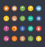 Glyphs Colored Vector Icons 40 Royalty Free Stock Photos