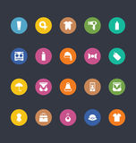 Glyphs Colored Vector Icons 43 Royalty Free Stock Photo