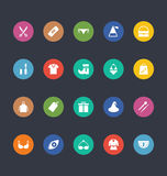 Glyphs Colored Vector Icons 41 Royalty Free Stock Photo