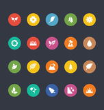 Glyphs Colored Vector Icons 50 Royalty Free Stock Photography
