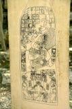Glyphs del Maya Fotografia Stock