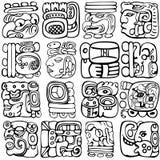 Glyphs maya illustration stock