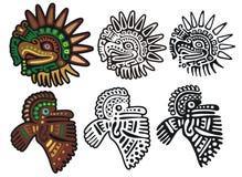Glyphs mayas, dioses del águila Foto de archivo libre de regalías