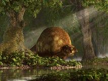 Glyptodons royalty free illustration