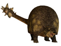 Glyptodont över vit vektor illustrationer