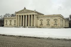 Glyptothek museum in Munich, Germany. The Glyptothek is a museum in Munich, Germany, which was commissioned by the Bavarian King Ludwig I to house his collection Royalty Free Stock Photo