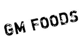 Gm食物不加考虑表赞同的人 免版税库存照片