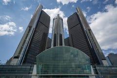 GM总部在底特律 免版税图库摄影