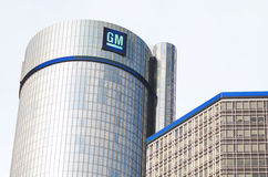 GM Building Headquarters In Downtown Detroit Stock Image
