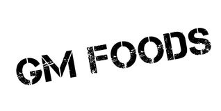 Gm Foods rubber stamp Stock Photos