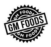 Gm Foods rubber stamp Stock Images